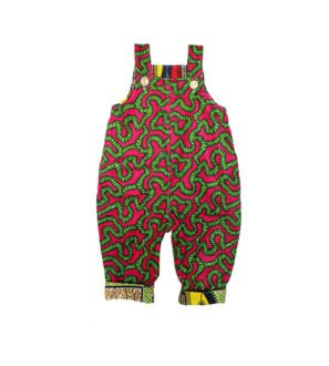 Green Roots Dungarees by Amamama at Nurture Collective Ethical Baby Clothing