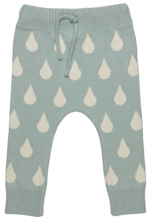 Blue Knitted Trousers Organic for Baby by Huggee Purewear