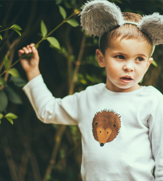 Hedgehog Long Sleeved T-Shirt by Tommy & Lottie at Nurture Collective