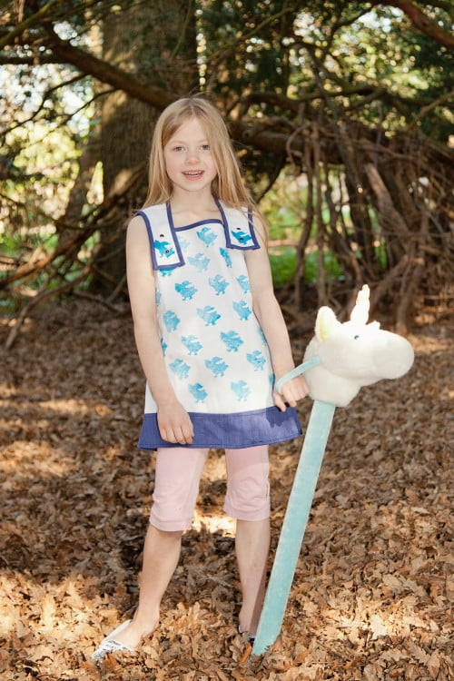 Printed Tunic Top for Girls by Where Does it Come From at Nurture Collective