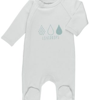 Love Drops Baby Grow by Huggee Purewear at Nurture Collective Ethical Baby Clothing