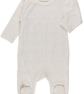 Mini Polka Dots Raglan Baby Grow by Huggee Pure Wear at Nurture Collective Ethical Baby Clothing