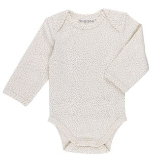 Mini Polka Dot Baby Body Suit by Huggee Pure Wear at Nurture Collective Ethical Baby Clothing
