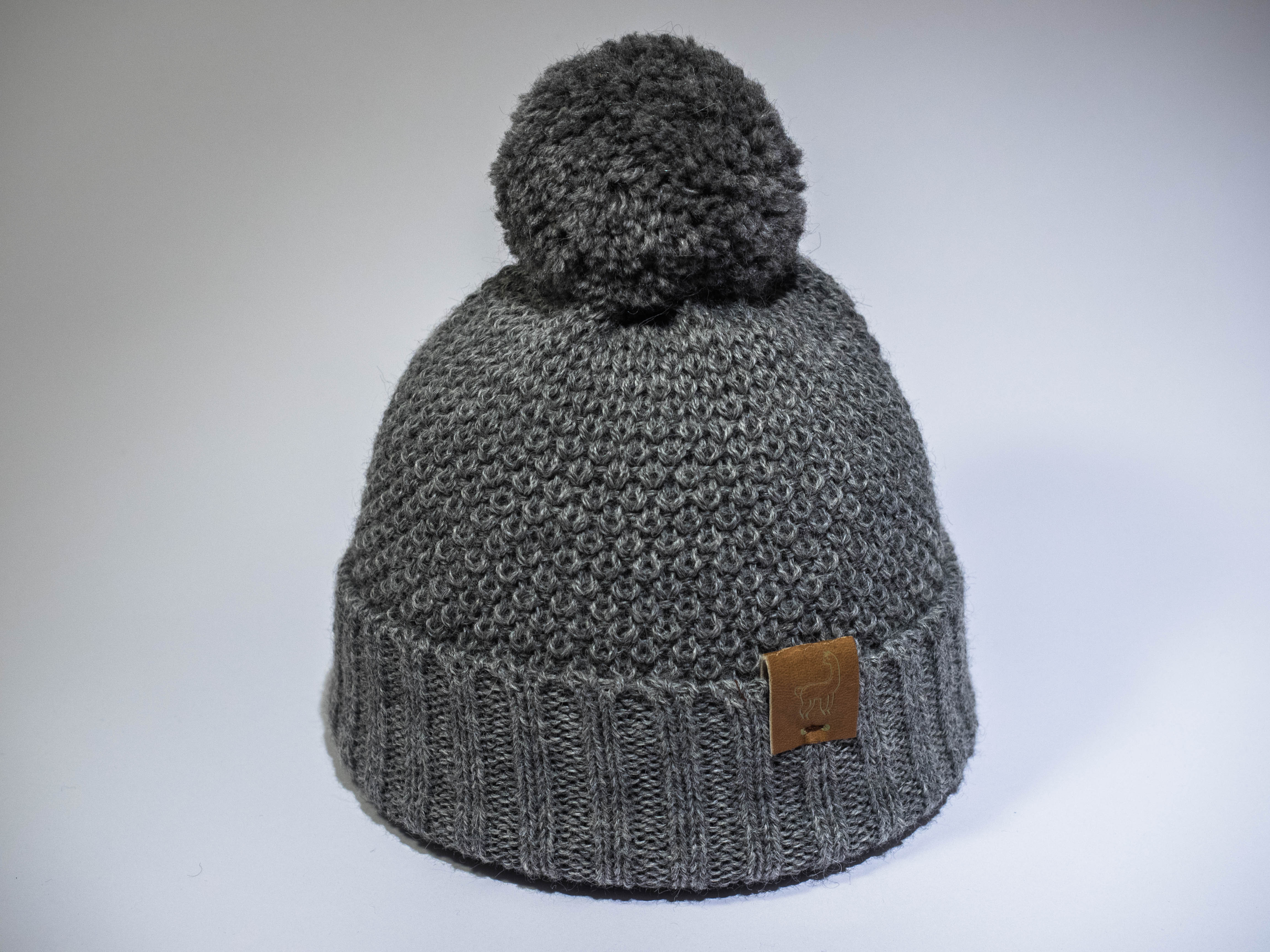 a4404a6a6b9 Alpaca Natural wool children s hats in Grey with pom poms by Ted   Bessie  at Nurture