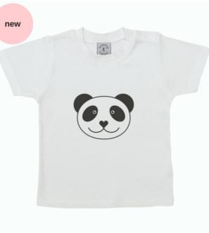 Babies Panda T Shirt – short sleeve by Tommy & Lottie at Nurture Collective Ethical Baby Clothing