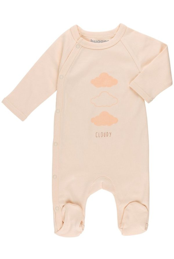 Cloudy Baby Grow by Huggee Purewear at Nurture Collective Ethical Baby Clothing