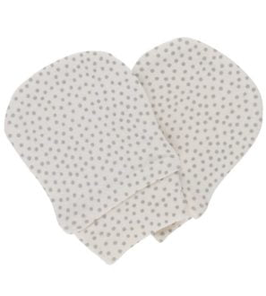Mini Polka Dots Non-Scratch-Mittens by Huggee Purewear