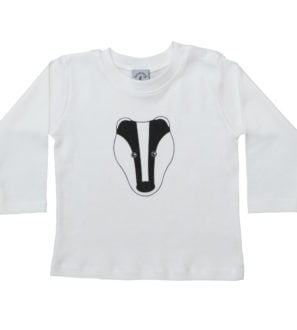 Baby Badger organic cotton long sleeved t-shirt by Tommy & Lottie ay Nurture Collective Ethical Baby Clothing