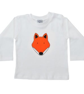 Baby Fox organic cotton long sleeved t-shirt by Tommy & Lottie at Nurture Collective Ethical Baby Clothing