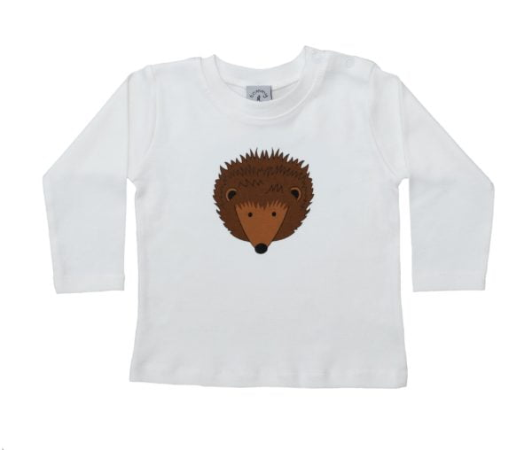 Hedgehog Long Sleeved Baby T-shirt By Tommy & Lottie at Nurture Collective Ethical Baby Clothing