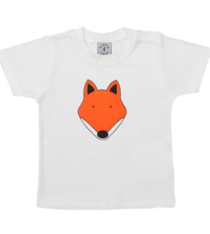 Baby Fox organic cotton short sleeved t-shirt by Tommy & Lottie at Nurture Collective Ethical Baby Clothing