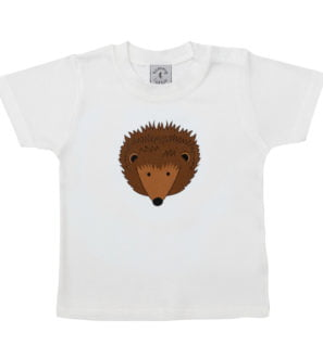 8e53864cbccd Babies Hedgehog short sleeved organic cotton t-shirt at Nurture Collective  Ethical Baby Clothing