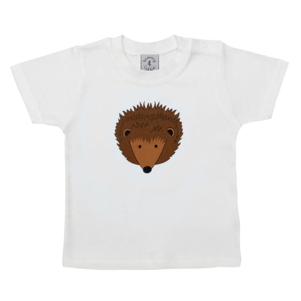 Babies Hedgehog short sleeved organic cotton t-shirt at Nurture Collective Ethical Baby Clothing