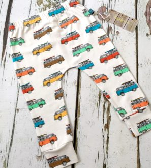 Organic Campervan leggings by Maebelle and Bo by Nurture Collective Ethical Baby Clothing