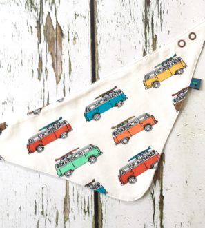 Campervan Dribble Bib by Maebelle & Bo at Nurture Collective Ethical Baby Clothing