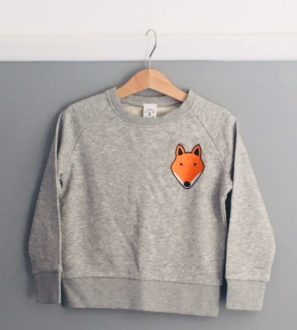 Kids Unisex Organic Fox Sweatshirt by Tommy & Lottie