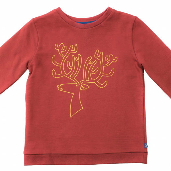 Robin the Reindeer Christmas Jumper by Cooee Kids at Nurture Collective