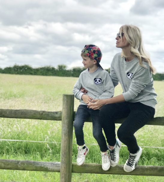 Twinning Adults & Children's Panda Sweatshirt by Tommy & Lottie at Nurture Collective