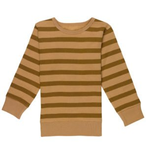 Brown Stripes Organic Sweatshirt by Huggee Purewear at Nurture Collective Ethical Baby Clothing