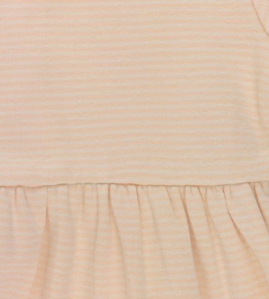 Stripes Natural and Nude Dress Organic Cotton by Huggee Purewear