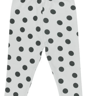 Maxi Polka Dots Pyjama Bottoms by Huggee Pure Wear at Nurture Collective Ethical Baby Clothing