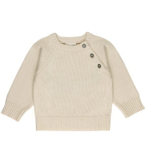 Baby Natural Knitted Sweater by Huggee Purewear