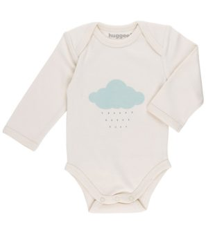 Blue Cloud Organic Babygrow LS by Huggee Purewear