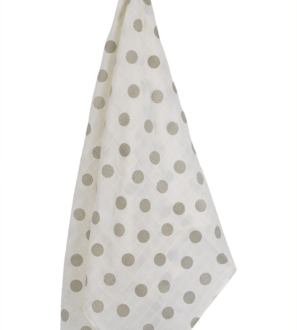 Oversized Polka Dot Muslin Swaddle by Huggee Purewear at Nurture Collective