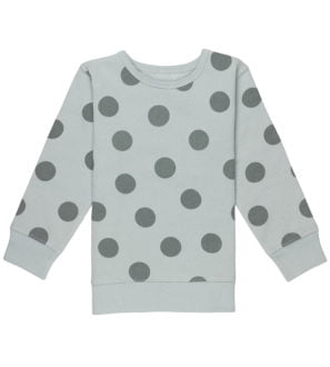 Sliver Blue Maxi Polka Dot Sweatshirt Organic Fleece by Huggee Purewear