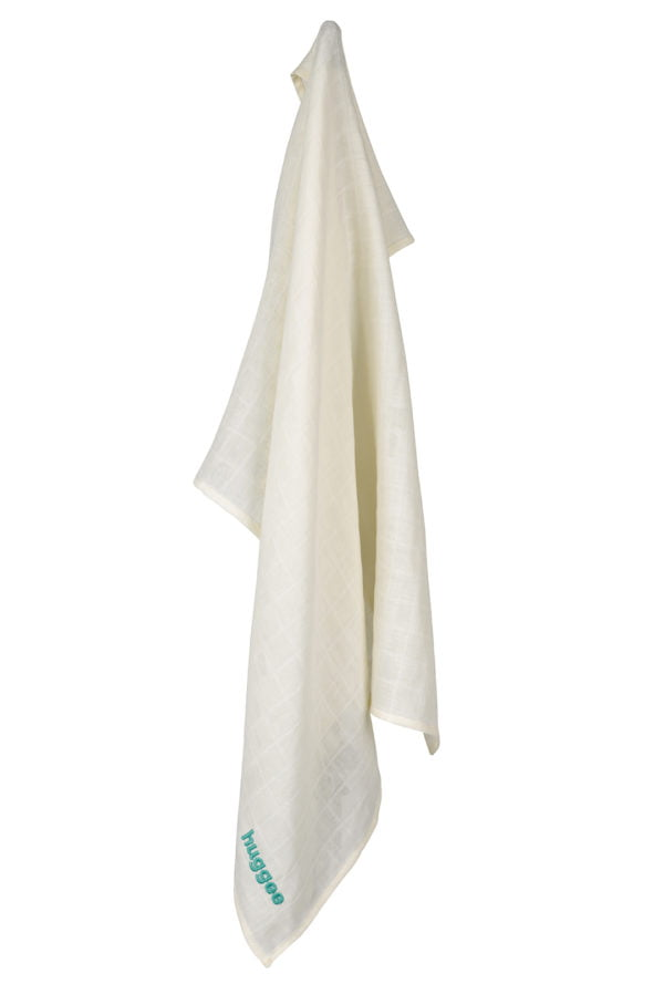 Small natural muslin swaddle by Huggee Purewear