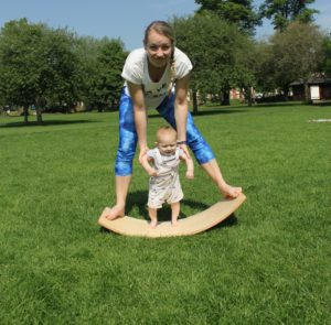 Cury Wooden Balance Board by Young & Learning at Nurture Collective