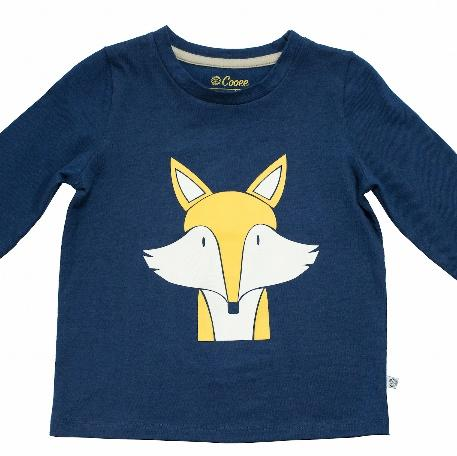 Fantastic Mr Fox Organic Unisex Sweatshirt in Navy blue by Cooee