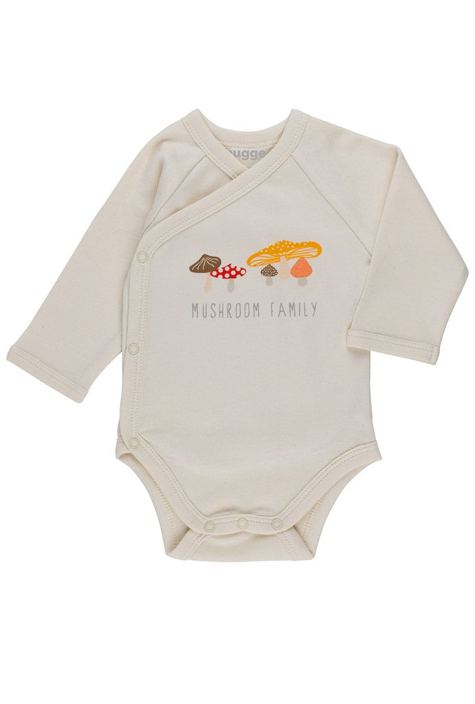 e66aa8afb Mushroom Organic Babygrow LS by Huggee Purewear at Nurture Collective  Ethical Baby Clothing