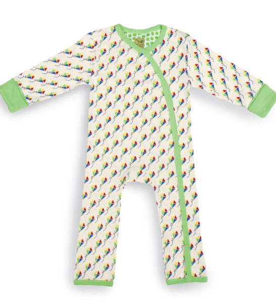 Organic Baby grow: Kites in gift set box available at Nurture Collective Ethical Baby Clothing