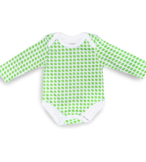 Leaf Bodysuit with Long Sleeves by Little Leaf Organic