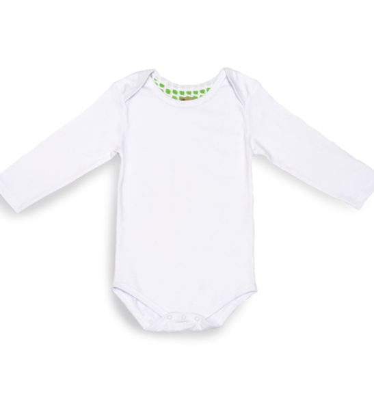 Organic cotton long sleeved baby's bodysuit at Nurture Collective