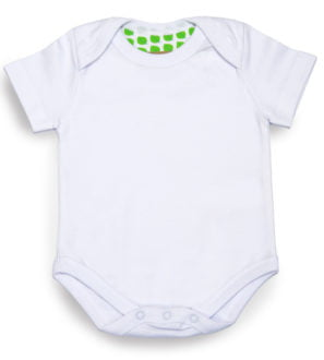white bodysuit short sleeved by Little Leaf Organic