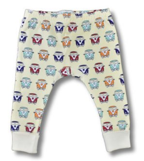 Baby Wearing Camper Van Leggings for baby-toddlers by Little Leaf at Nurture Collective Ethical Baby