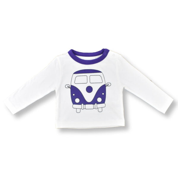 Camper van t-shirt for babies and toddlers by Little Leaf Organics