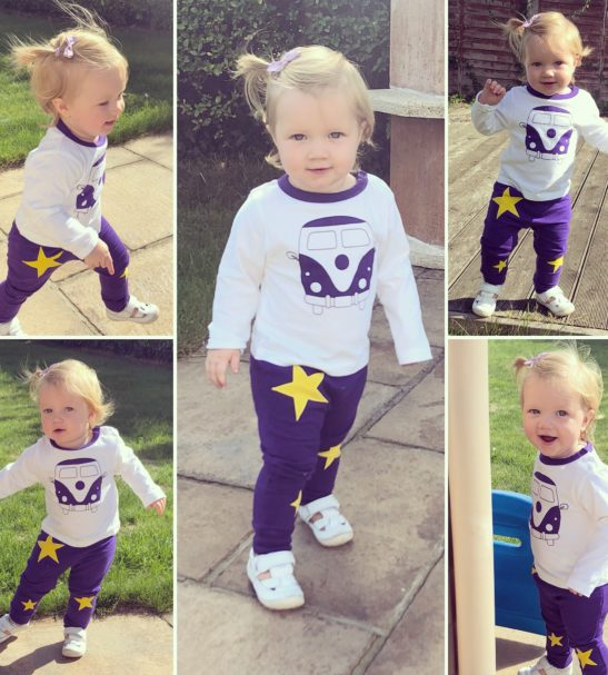 Camper van T-shirt for baby-toddlers long sleeved by Little Leaf at Nurture Collective Ethical Baby
