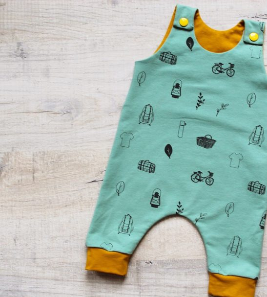 Little Drop Romper in Mint at Nurture Collective Ethical Baby Clothing
