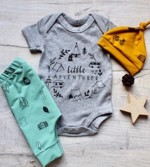 Little adventurer gift set for baby at Nurture Collective Ethical Baby Clothing