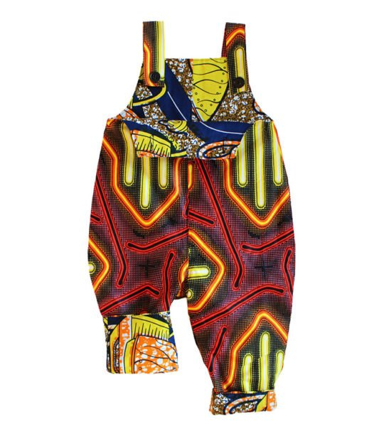 Neon African Print Dungarees by Amamama
