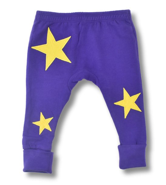 Purple Star Leggings for baby-toddlers by Little Leaf at Nurture Collective Ethical Baby
