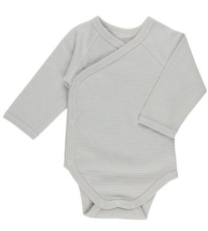 Blue Stripes Kimono Huggee Purewear Nurture Collective Ethical Baby Clothing