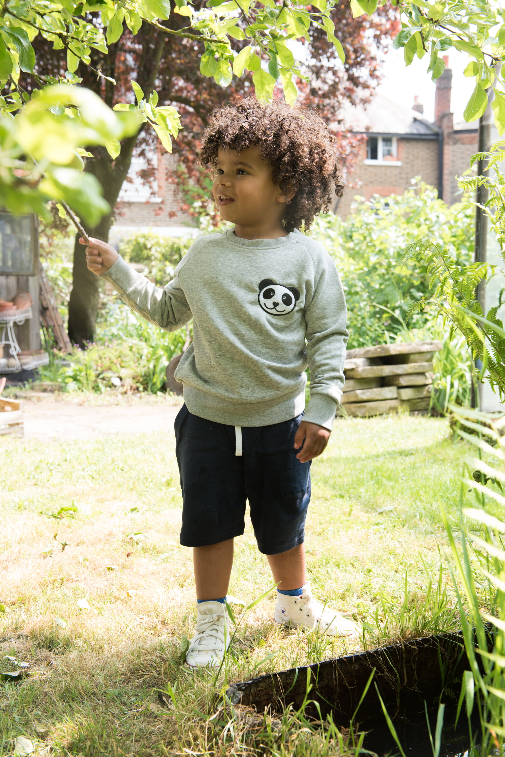 Panda Sweatshirt Tommy & Lottie at Nurture Collective Ethical Baby Clothing