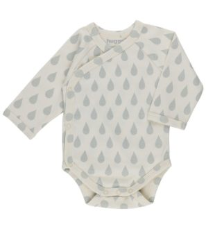 Water Drops Kimono Baby Grow by Huggee Purewear at Nurture Collective Ethical Baby Clothing