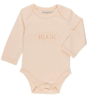 Breathe Organic Cotton Long Sleeved Baby Grow by Huggee Purewear at Nurture Collective Ethical Baby Clothing