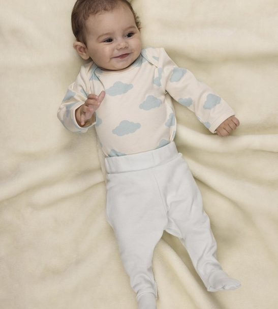 21da74373 Cloud organic baby bodysuit by Huggee Purewear at Nurture Collective  Ethical Baby Clothing