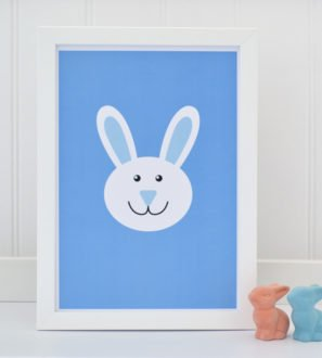 Bunny Print Blue Tommy & Lottie at Nurture Collective Ethical Baby Clothing